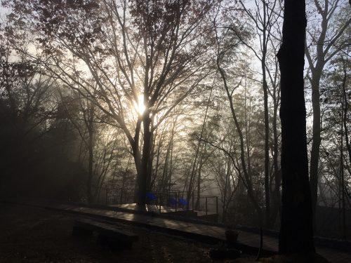 金門坑。霧に包まれる